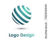 round earth planet logo design... | Shutterstock .eps vector #730543444
