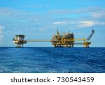 offshore platform of the in sea ... | Shutterstock . vector #730543459