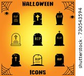 tombstone vector icons   Shutterstock .eps vector #730543594