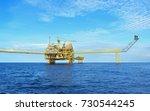 offshore platform of the in sea ... | Shutterstock . vector #730544245