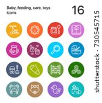 colorful baby  feeding  care ... | Shutterstock .eps vector #730545715