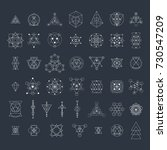 sacred geometry signs... | Shutterstock . vector #730547209