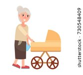 grandmother walking with... | Shutterstock .eps vector #730548409