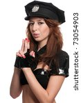 young beautiful police woman... | Shutterstock . vector #73054903