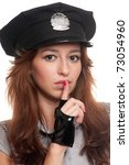young beautiful police woman... | Shutterstock . vector #73054960