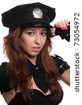 young beautiful police woman... | Shutterstock . vector #73054972