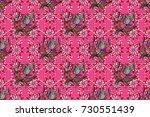 raster henna tattoo style.... | Shutterstock . vector #730551439