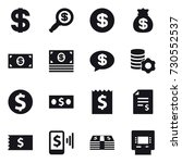 16 vector icon set   dollar ... | Shutterstock .eps vector #730552537