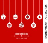 merry christmas greeting card.... | Shutterstock .eps vector #730552735