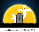 halloween festival and... | Shutterstock .eps vector #730553959