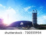 biogas plant technology at sky... | Shutterstock . vector #730555954