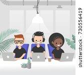 teamwork  vector illustration.... | Shutterstock .eps vector #730556419