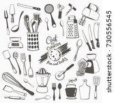 freehand illustrations of... | Shutterstock .eps vector #730556545