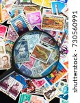 stamps from around the world... | Shutterstock . vector #730560991