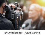 photographer video recording... | Shutterstock . vector #730563445
