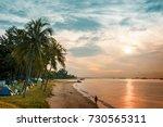 morning in east coast beach... | Shutterstock . vector #730565311