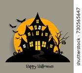 happy halloween design... | Shutterstock .eps vector #730565647