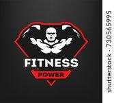fitness power  sports logo on a ...   Shutterstock .eps vector #730565995