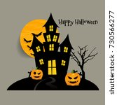 happy halloween design... | Shutterstock .eps vector #730566277