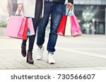 happy couple shopping in the... | Shutterstock . vector #730566607