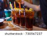 beautiful  golden row of... | Shutterstock . vector #730567237