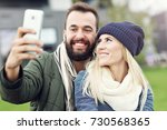 picture showing happy young... | Shutterstock . vector #730568365