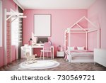nursery with pink walls  a... | Shutterstock . vector #730569721