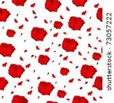 red roses pattern on white... | Shutterstock .eps vector #73057222