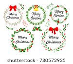 new year greeting card.... | Shutterstock .eps vector #730572925