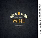 vintage logotype for winery ... | Shutterstock .eps vector #730573855