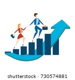 business man and woman with... | Shutterstock . vector #730574881