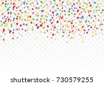colorful glitter confetti for... | Shutterstock .eps vector #730579255