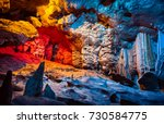 cango cave  amazing view on... | Shutterstock . vector #730584775