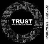 trust. word collage on black...   Shutterstock .eps vector #73059220