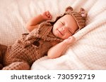 smiling baby boy 2 3 months old ... | Shutterstock . vector #730592719