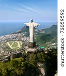 dramatic aerial view of rio de... | Shutterstock . vector #73059592