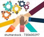 flat design illustration... | Shutterstock .eps vector #730600297
