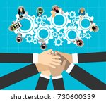 flat design illustration... | Shutterstock .eps vector #730600339