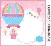 baby shower card for newborn... | Shutterstock .eps vector #730600861