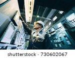 power plant worker | Shutterstock . vector #730602067
