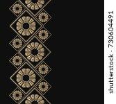 golden frame in oriental style. ... | Shutterstock .eps vector #730604491