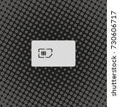 flat sim card case illustration.