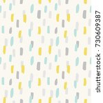 vector pattern with brush... | Shutterstock .eps vector #730609387