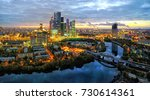 moscow city district and moscow ... | Shutterstock . vector #730614361