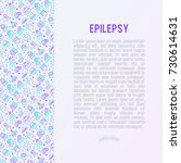 epilepsy concept with thin line ... | Shutterstock .eps vector #730614631