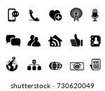 blog social media icons set | Shutterstock .eps vector #730620049