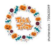 vector illustration on a trick... | Shutterstock .eps vector #730620349