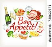 bon appetit label header... | Shutterstock .eps vector #730620571