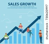 business graph growth concept... | Shutterstock .eps vector #730620997