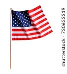 american flag isolated on a... | Shutterstock . vector #730623319